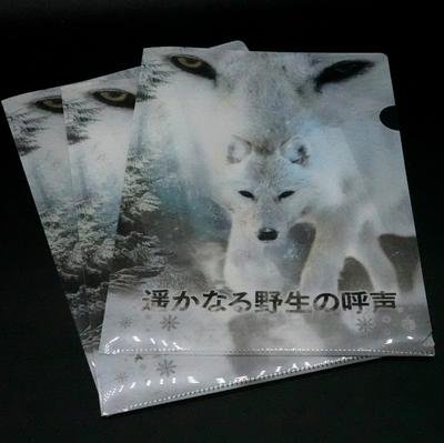 A4 クリアファイル 3枚 set ホッキョクオオカミ「遥かなる野生の呼声」 【Original】