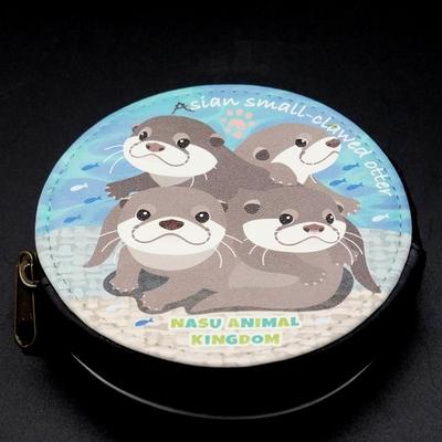 両面プリントレザーコインケース コツメカワウソベビー4 【Original】