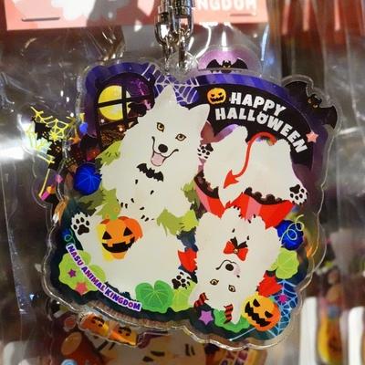 ハロウィン限定アクキーホッキョクオオカミ兄妹「オオカミ男と小悪魔ちゃん」【Original】