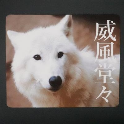 マウスパッド / ラバーマット ホッキョクオオカミ 「威風堂々」 【Original】