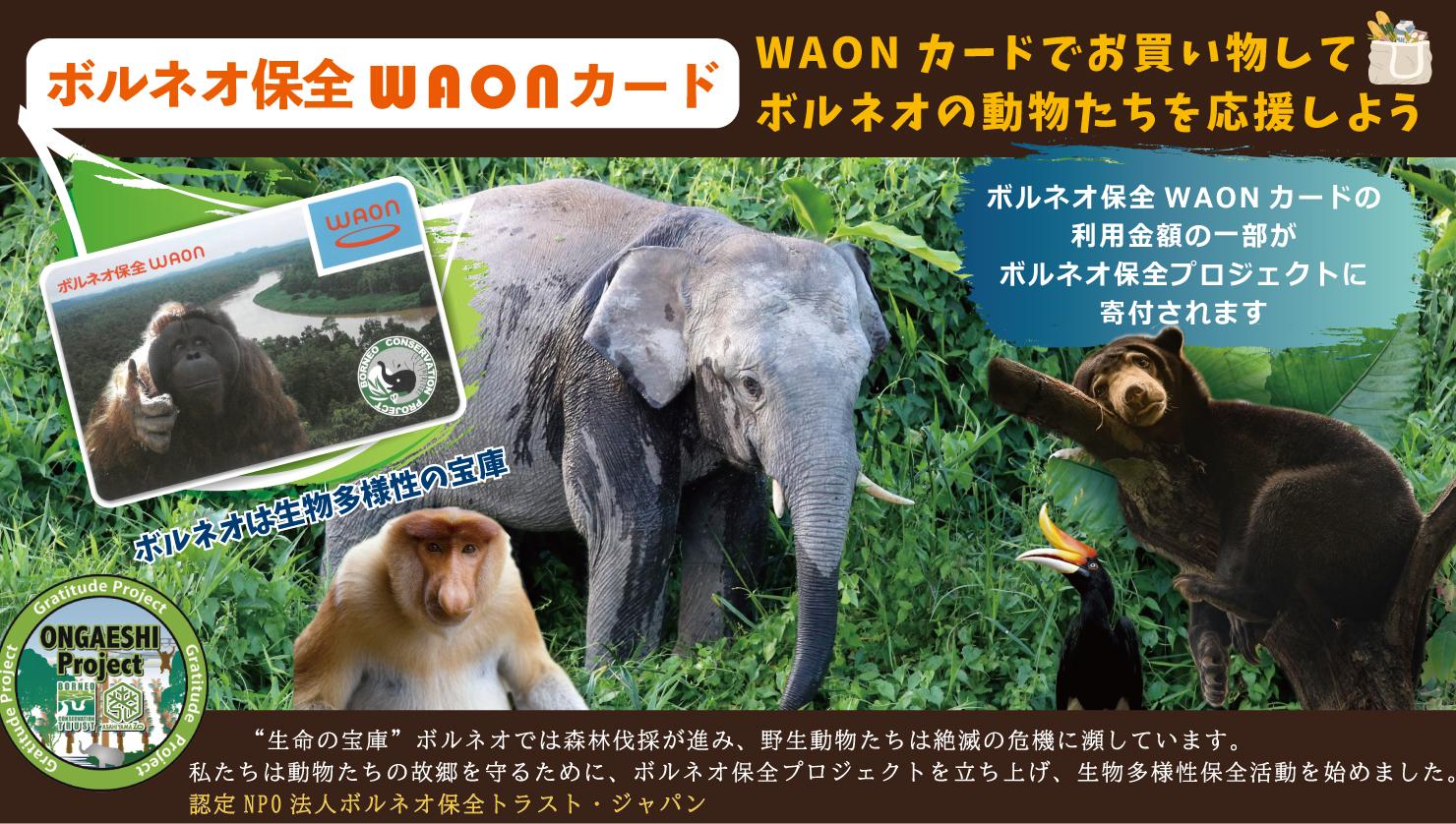 ボルネオ保全 WAON カード