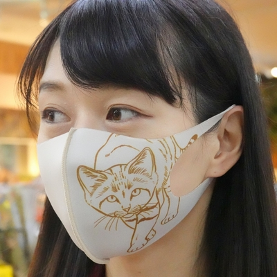 どうぶつマスク スナネコ ミルクティ 【Original】子供サイズあり
