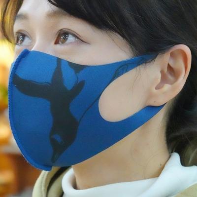 制菌ウレタンマスク ジェンツーペンギン ブルー【Original】子供サイズあり