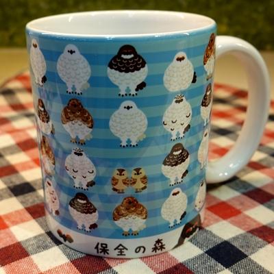 【ライチョウ募金付】陶器マグカップ ライチョウ集合柄 【Original】4995253347896