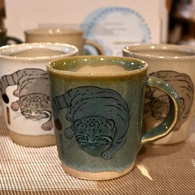 益子焼 のマグカップ マヌルネコ 【Original】とちぎ陶器