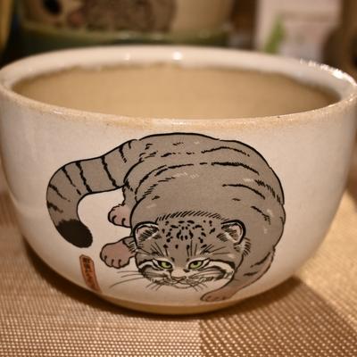益子焼の飯椀 マヌルネコ【Original】とちぎ陶器  小どんぶり・深鉢
