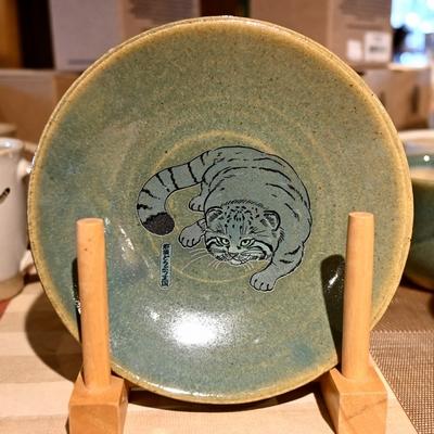 益子焼の五寸皿 マヌルネコ 【Original】とちぎ陶器 小皿