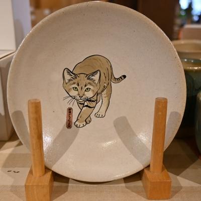 益子焼の五寸皿 スナネコ 【Original】とちぎ陶器 小皿