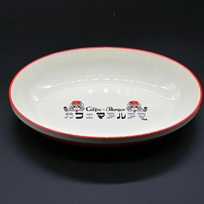 カフェマヌルヌマ オーバルプレート 朱色 (Original) 電子レンジ・食洗器OK 4995253347971