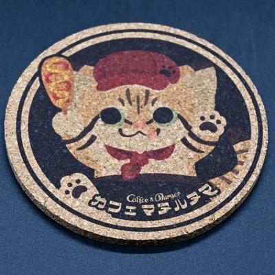 カフェマヌルヌマ スナネココルクコースター【Original】