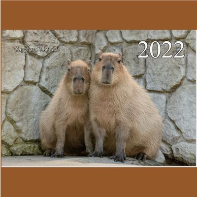 2022年度版 カピバラカレンダー どうぶつ王国編 【カピバラ写真家 渡辺克仁】