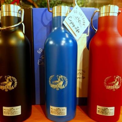 ステンレスハンガーボトル ハシビロコウ 保冷/保温 ステンレス魔法瓶480cc キャプテンスタッグコラボ