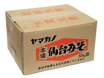 ヤマカノ仙台みそ 10kgダンボール入り