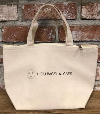 HIGU BAGEL&CAFE 保冷コットントートバッグ 1個