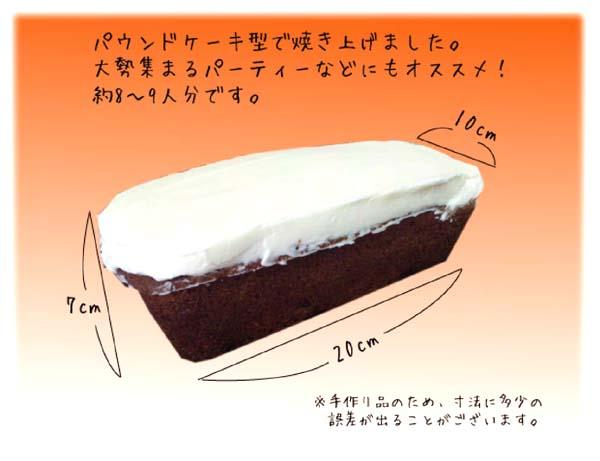 キャロットケーキサイズ