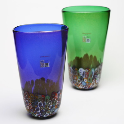 Gambaro&Tagliapietra ムラーノガラス花瓶「MURRINE」