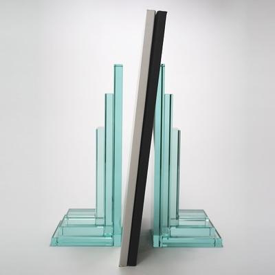 OMODOMO ガラス製ブックエンド「ODO」