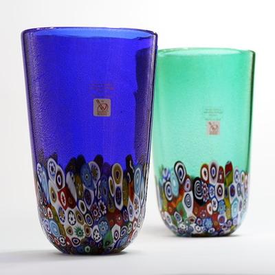 Gambaro&Poggi ムラーノガラス花瓶「MURRINE」
