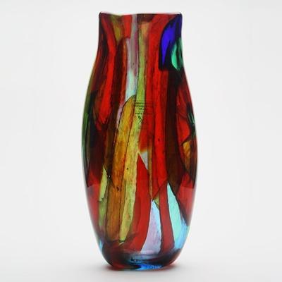 Gambaro&Poggi ムラーノガラス花瓶「Rainbow V50」