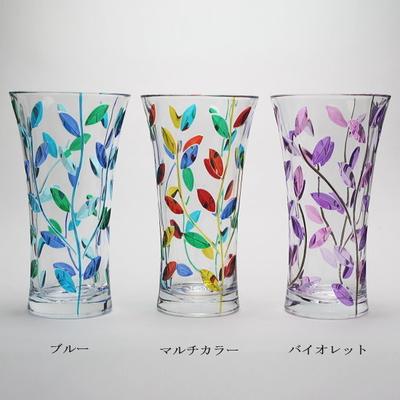 ZECCHIN ガラス製フラワーベース「LAURUS H25」