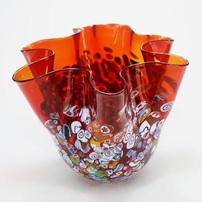 ZECCHIN ベネチアンガラス花瓶「SAN MARCO FAZZOLETTO」