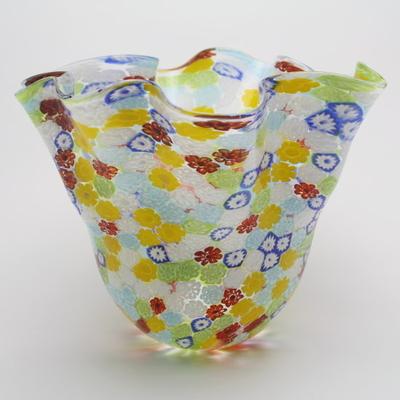ZECCHIN ベネチアンガラス花瓶「FIORE MURRINA FAZZOLETTO」