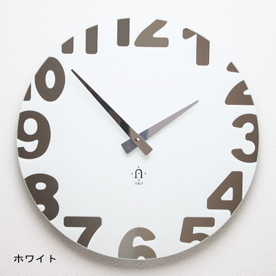 REXARTIS ガラス製掛け時計「METROPOLITAN」