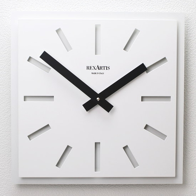 REXARTIS スクエアデザイン掛け時計 「NAOS」