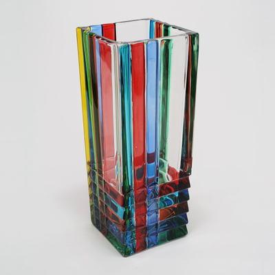 ZECCHIN ガラス製フラワーベース 「QUADRO」