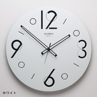 REXARTIS ガラス製掛け時計「POINT」