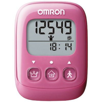 オムロン 歩数計(ピンク)
