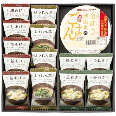 美味心 フリーズドライ味噌汁&金賞健康米ギフト GMS-BO