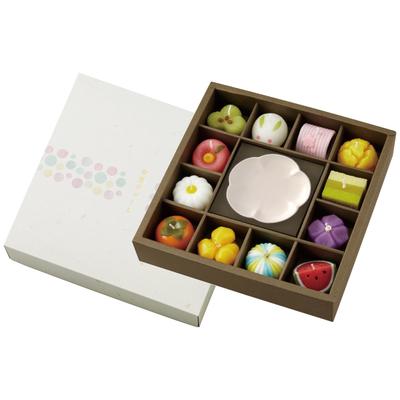 和菓子型キャンドル・皿セット