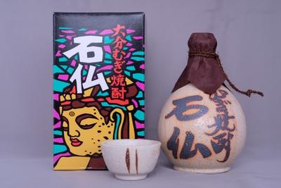 麦焼酎「石仏・志野焼」(徳利入り)25度 720ml