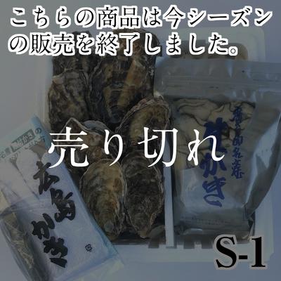 【S-1】カキ0.5kg+殻付8ヶ (加熱調理用)