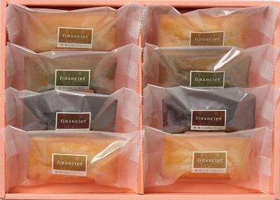 奈良MAHOROBA フィナンシェ詰合せ 38g×8枚(プレーン×4、抹茶×2、チョコ×2)