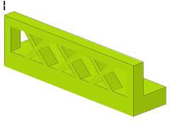 %3633 フェンス[黄緑]1x4
