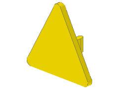 %892 標識[黄]三角無地(クリップ付)
