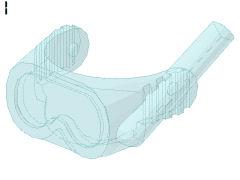 %30090 ヘルメット用バイザー[透明水色](水中)
