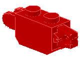 %30386 ヒンジブロック[赤]1x2(ロック、末端に指1本と指2本)
