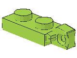 %44301 ヒンジプレート[黄緑]1x2(ロック、端に指1本)