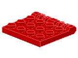 %44570 ヒンジプレート[赤]4x4(ロック、指4本)