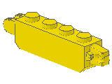 %30387 ヒンジブロック[黄]1x4(ロック、指1本と指2本)
