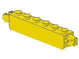 %30388 ヒンジブロック[黄]1x6(ロック、指1本、指2本)