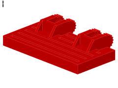 %44569 ヒンジプレート[赤]2x4(ロック、指2本x2)