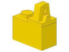 %989 ヒンジブロック[黄]1x2(ロック、上部に指1本)