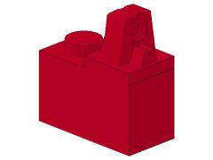 %989 ヒンジブロック[赤]1x2(ロック、上部に指1本)