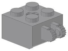 %40902 ヒンジブロック[新灰]2x2(ロック、指2本、軸穴有)