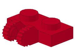 %60471 ヒンジプレート[赤]1x2(ロック、横に指2本)
