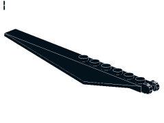 %57906 傾斜付プレート[黒]1x12(ロック、末端に指2本)
